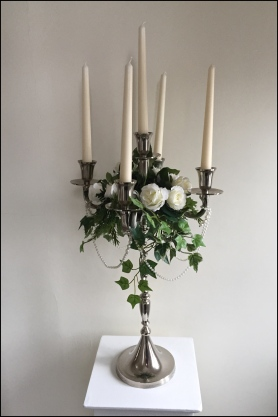 Candelabra with Rose Ring