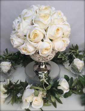 Posy Bowl with Ivory Rose Top