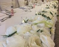 Ivory Flower Table Runner