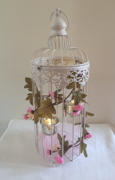 Birdcage with Rose Trim