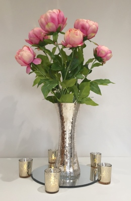 Gold Vase with Peonies